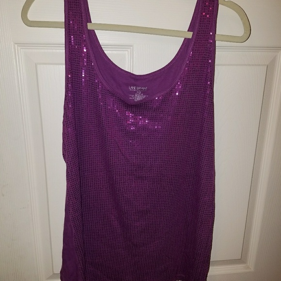 b864d41514162 Lane Bryant Tops - Plus Size Purple sequin tank top